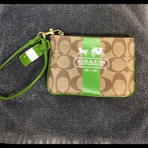 Coach Leather and Cloth Wristlet